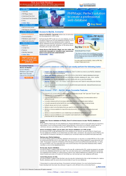 Access to my SQL Acces to My SQL preview. Click for more details