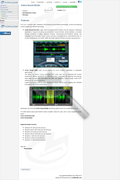 Active Sound Studio Commercial edition in bundle with Audio Sound Studio for NET preview. Click for more details