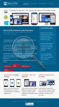 AdminZilla Network Administrator Site License preview. Click for more details