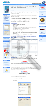 Adolix PDF Converter PRO Upgrade to Version preview. Click for more details