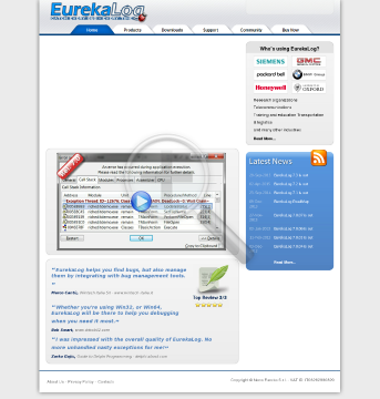 EurekaLog Enterprise Company License with year of free updates preview. Click for more details