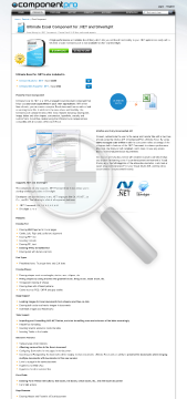 Excel Component for NET Late Renewal Standard Version for Company No Source Code Year Subscription preview. Click for more details
