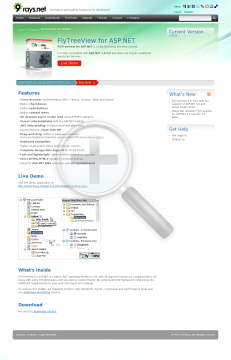 FlyTreeView for ASP NET Company License preview. Click for more details