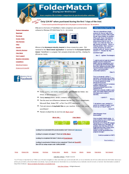 FolderMatch Full Version preview. Click for more details