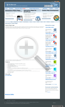 France Departments Flash Map Single license preview. Click for more details