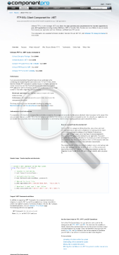 FTP Component for NET Early Renewal Standard Version for Developer No Source Code Year Subscription preview. Click for more details
