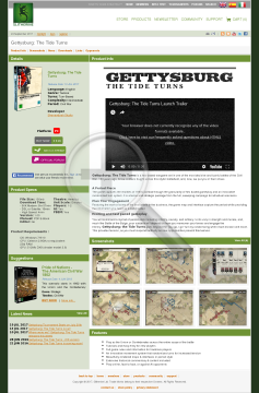 Gettysburg The Tide Turns Download preview. Click for more details