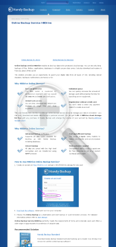 Handy Backup Online Storage GB for year preview. Click for more details