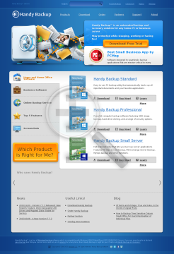 Handy Backup Small Server Edition preview. Click for more details