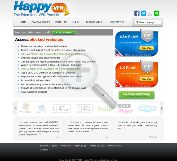 Happy VPN account Biannual Dedicated IP Happy VPN plan discounted preview. Click for more details