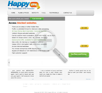 Happy VPN account Biannual German Happy VPN plan preview. Click for more details