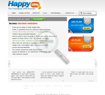 Happy VPN account Biannual Happy VPN plan discounted preview. Click for more details