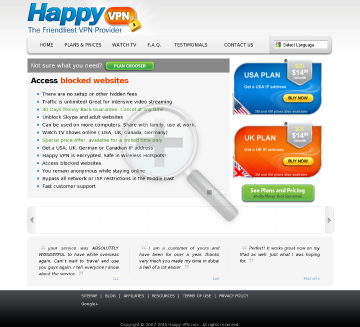 Happy VPN account Biannual UK Happy VPN plan preview. Click for more details