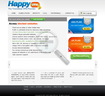 Happy VPN account Monthly Happy VPN plan discounted preview. Click for more details
