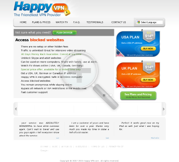 Happy VPN account Quarterly Dedicated USA IP Happy VPN plan preview. Click for more details