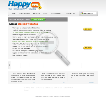 Happy VPN account Quarterly USA Happy VPN plan preview. Click for more details