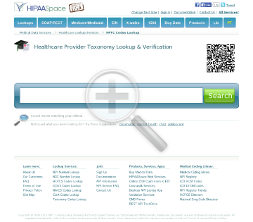 Healthcare Taxonomy Codes Full Version preview. Click for more details
