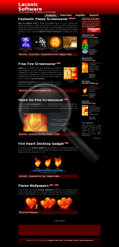 Heart On Fire Screensaver Full Version preview. Click for more details