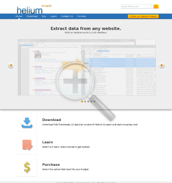 Helium Scraper Professional preview. Click for more details