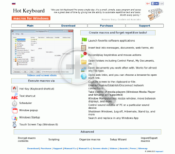 Hot Keyboard Pro Corporate preview. Click for more details