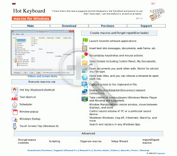 Hot Keyboard Pro preview. Click for more details