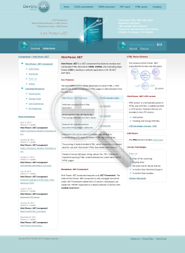 Html Parser NET Site License preview. Click for more details