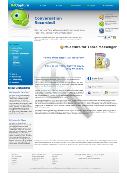 IMCapture for Yahoo Messenger Single License for Mac OS preview. Click for more details