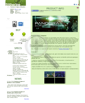 Pandora Eclipse of Nashira PC MAC LINUX Download preview. Click for more details