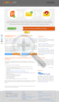 PPT2SWF Converter Single User License preview. Click for more details
