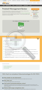 Protokoll ManagementReview ISO 9001 Vorlage in Deutsch preview. Click for more details