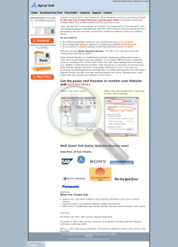 Radar Website Monitor Professional License preview. Click for more details