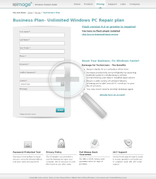 Reimage Windows Repair Business plan 20 repairs contract 149 95 preview. Click for more details