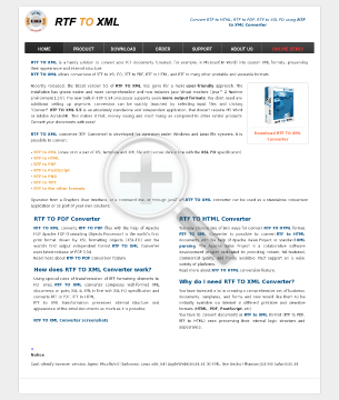 RTF TO XML Site License preview. Click for more details