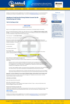 SendAccount for Outlook Full Version preview. Click for more details