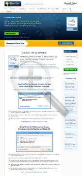SendGuard for Outlook Version Send Confirm Only preview. Click for more details