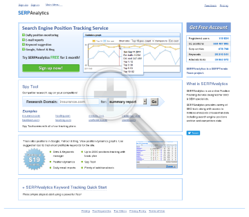 SERPAnalytics Subscriptions Advanced Subscription preview. Click for more details