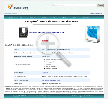 Sim iNet Practice Tests Full Version preview. Click for more details