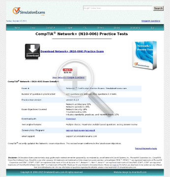 Sim Network Practice Tests Full Version preview. Click for more details