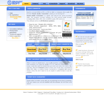 Smart Audio Converter Pro download link CD via FirstClass Mail preview. Click for more details