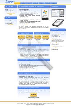 Smart PDF to ePub Converter Full Version preview. Click for more details