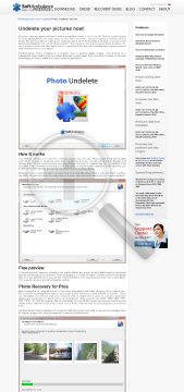 SoftAmbulance Photo Undelete single user license preview. Click for more details
