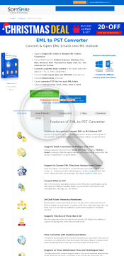 SoftSpire EML to PST Converter User preview. Click for more details