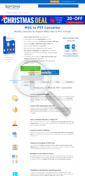 SoftSpire MSG to PST Converter User preview. Click for more details
