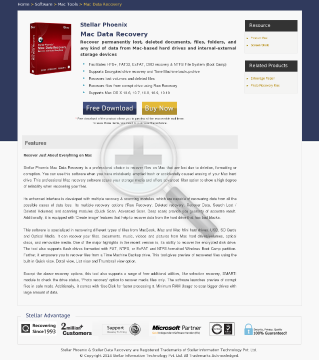 Stellar Phoenix Macintosh Data Recovery v6 Full Version preview. Click for more details