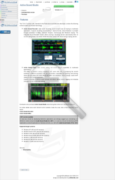 Active Sound Studio Commercial edition in bundle with Audio Sound Studio for NET discount for customers preview. Click for more details