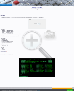 Delphi TFloatSpinEdit Source code preview. Click for more details