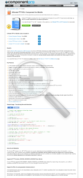 FTP Component for Mobile Standard Version for Company No Source Code Year Subscription preview. Click for more details