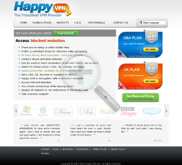 Happy VPN account Monthly Happy VPN plan preview. Click for more details